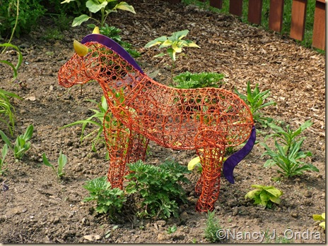 Horse in Happy Garden