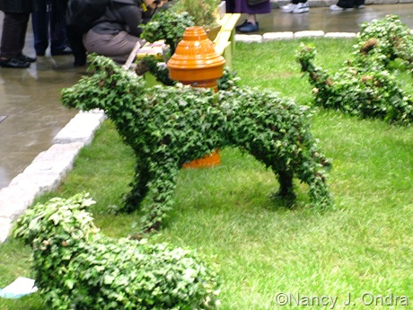 Dog topiary at Philly Flower Show