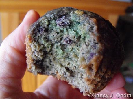 'Purple' sweet potato cupcake