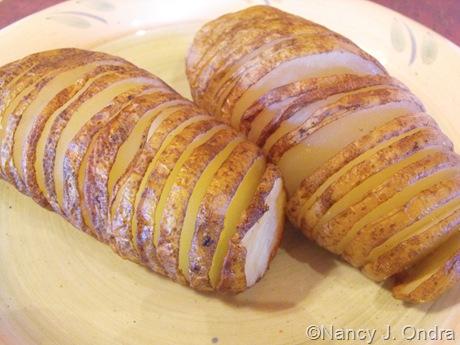 Potato Hasselback Style Baked 003
