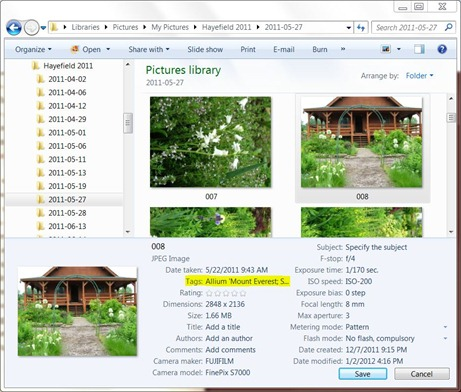 Windows 7 Picture Library