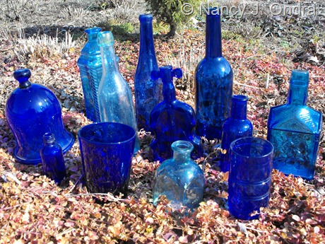 Blue glass at Hayefield