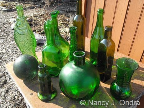 Green glass at Hayefield