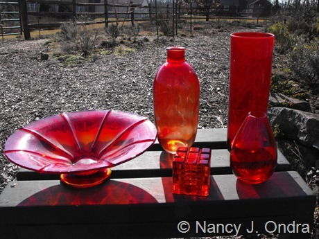 Red glass at Hayefield