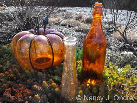 Orange glass at Hayefield