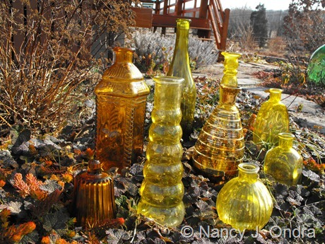 Yellow glass at Hayefield