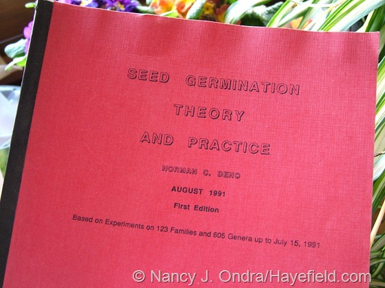 Seed Germination Theory and Practice First Edition by Norman Deno