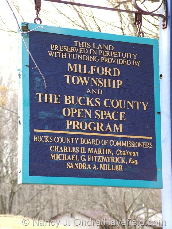 Open Space Sign - Milford Township, PA