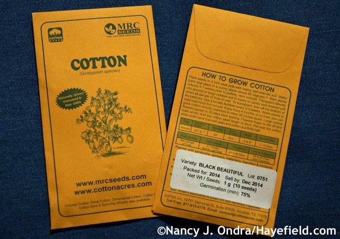 Black Cotton seeds at Hayefield.com
