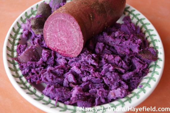 Sweet Potato All Purple raw and cooked at Hayefield.com
