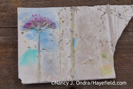 Practicing Finishing Techniques on Plaster Tile; Nancy J. Ondra at Hayefield