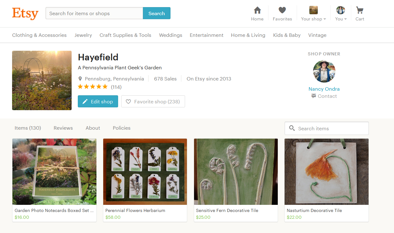 Hayefield on Etsy